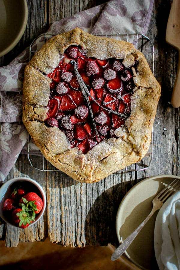 Mixed Berry & Earl Grey Galette recipe || Tart and sweet with a super flaky nutty crust, this galette is the stuff that summertime dreams are made of! || @thismessisours @pamelasproducts #glutenfree #vegetarian