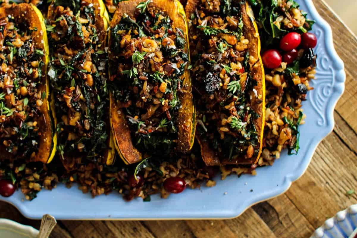 Exotic Rice Stuffed Delicata Squash with Curried Cashew ...