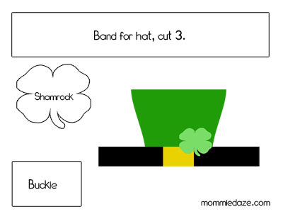 photograph about Leprechaun Hat Printable named St. Patricks Working day Crafts - Leprechaun Hat Printable - This