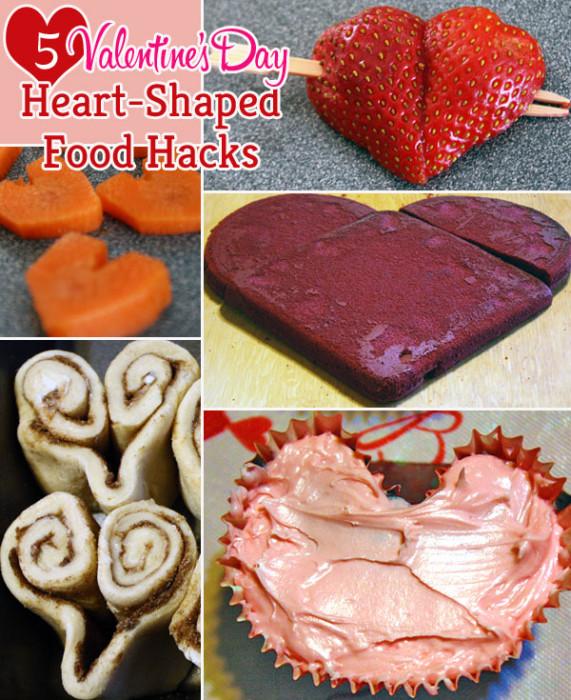 Heart-shaped food hacks