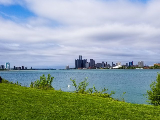 Detroit River from Belle Isle