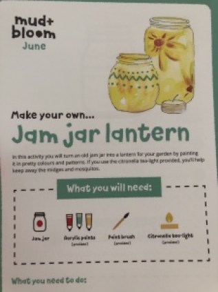 Mud and bloom jam jar lantern