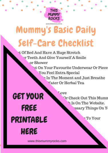 Self care check list clickable image