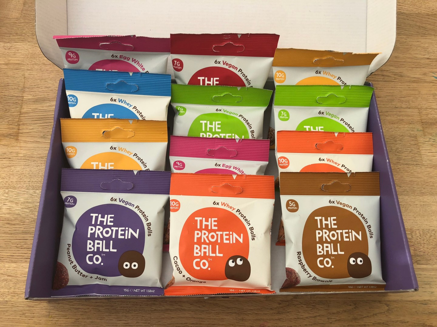 the protein ball co. box of 12