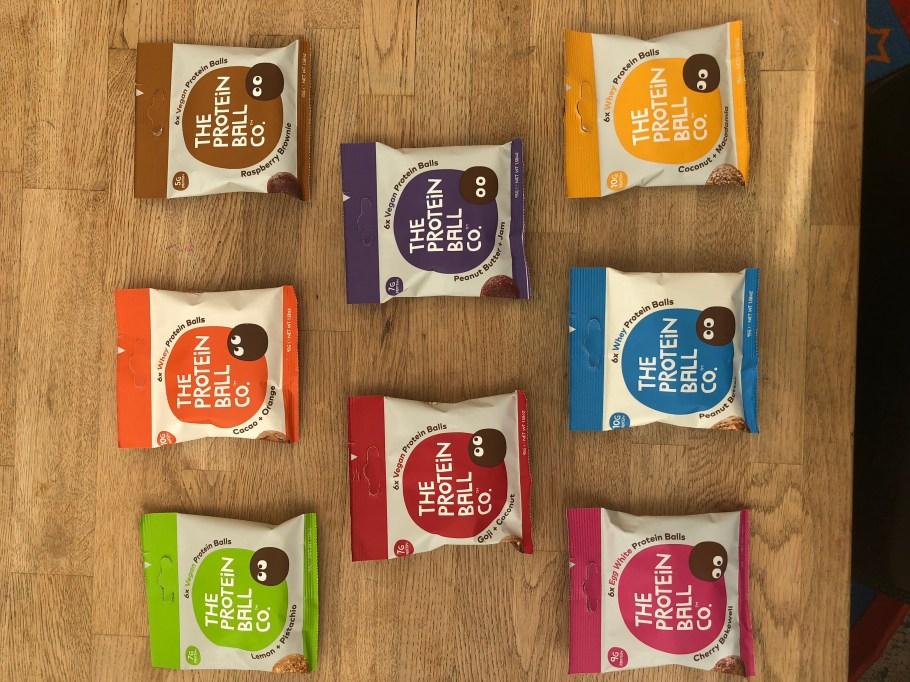 the protein ball co. 8 flavours on show