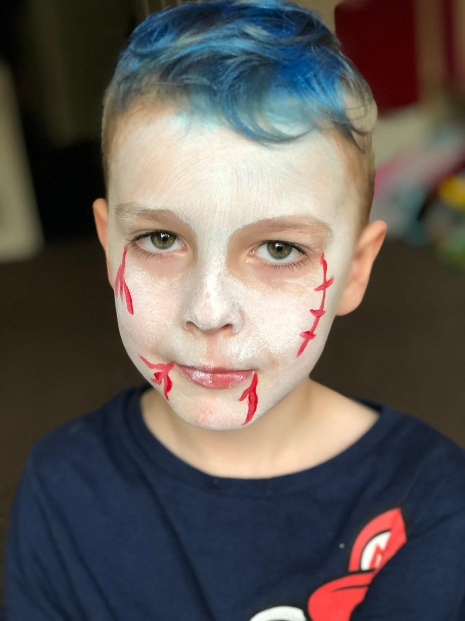 step 4 vampire halloween face paint
