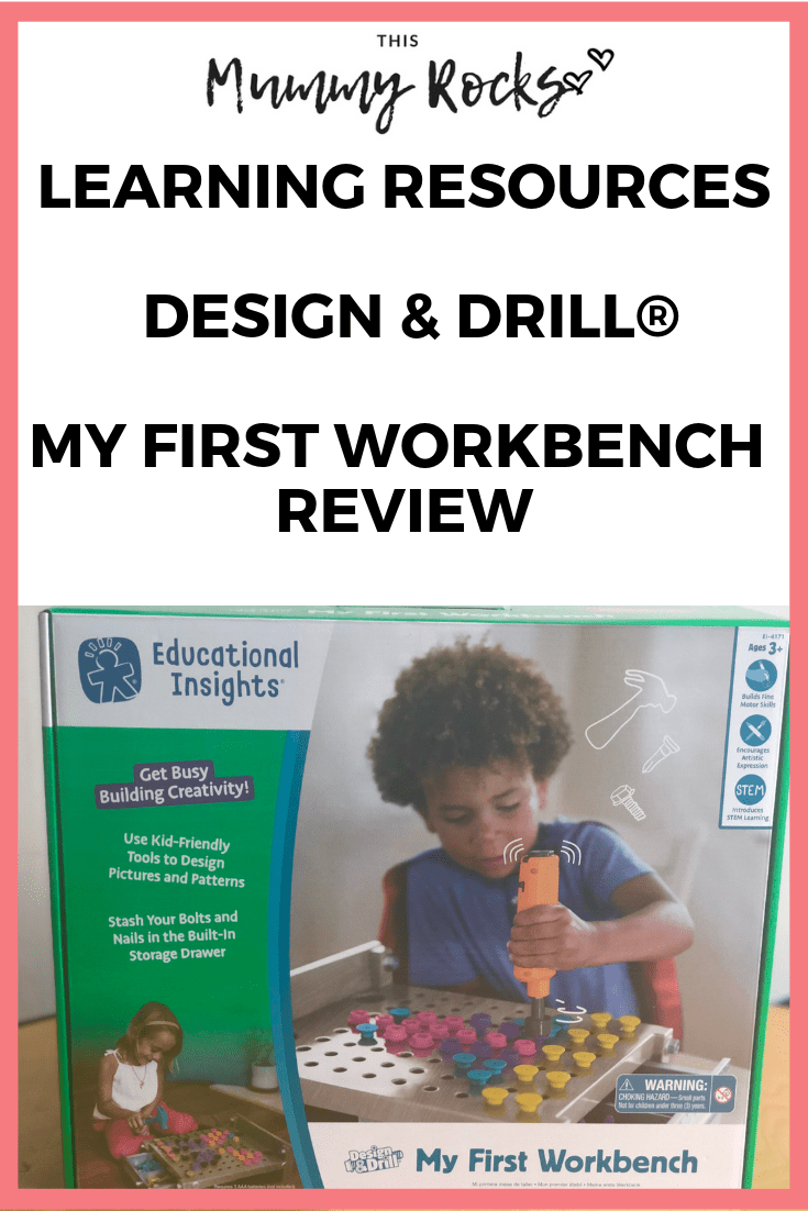 Learning Resources Design & Drill® My First Workbench Review PIN