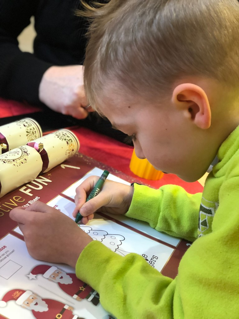 caelan colouring in wyevale garden centre breakfast with santa