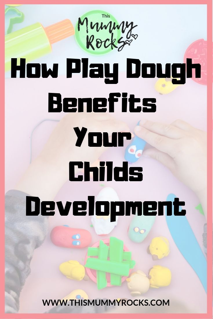 the benefits of play dough pinterest graphic