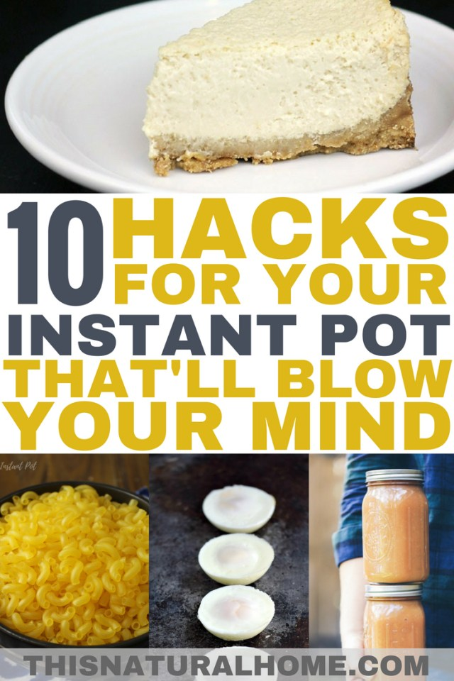 These Instant Pot hacks have given me so many more ways to use my IP! These ideas save me so much time in the kitchen!