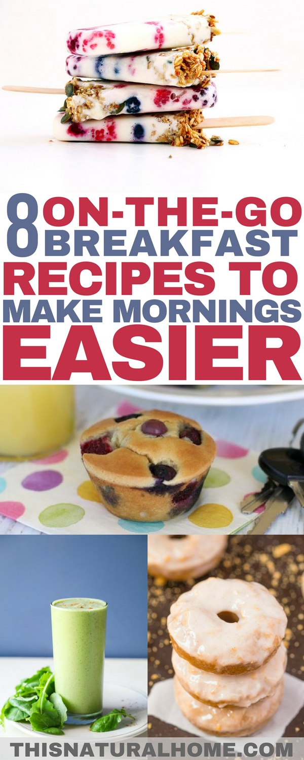 Mornings just got easier! These on-the-go breakfast options will keep mornings from getting too crazy!