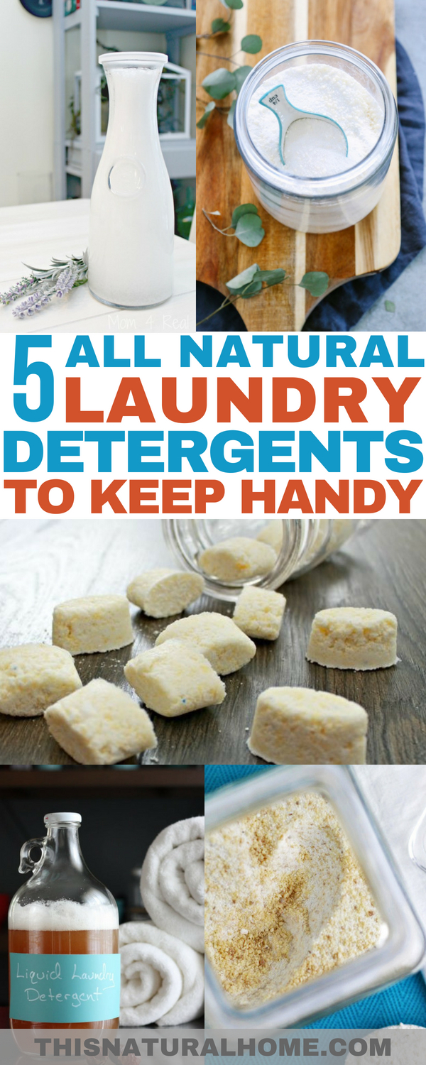 These all natural laundry detergents will keep your clothes clean and your family safe! No need to worry about chemical yuck when you have these laundry detergent options handy!