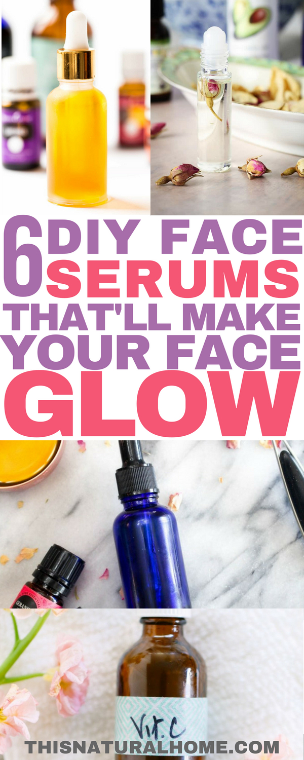 Your face will glow and feel awesome after you make and use these face serums!