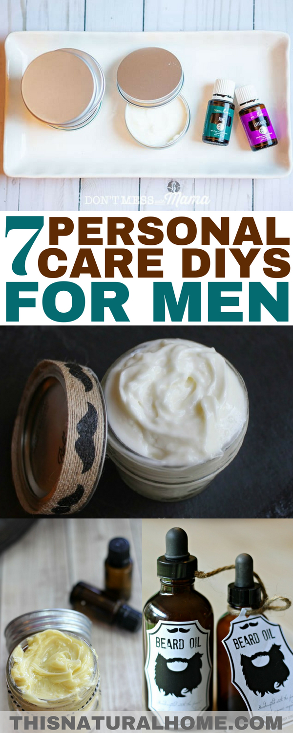 Treat your man well with these personal care DIYs just for men! They'll love getting the gifts and you'll love how they smell wearing them!