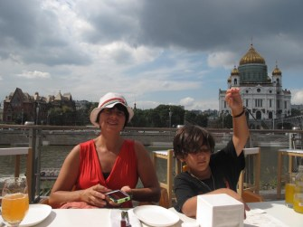 Dining Al Fresco in Gorky Park