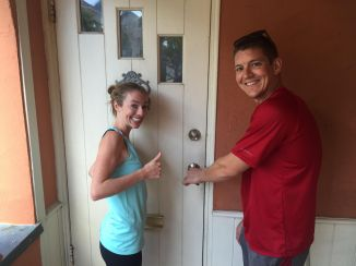 Unlocking the door for the first time