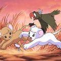 Kimba the White Lion and bird friend