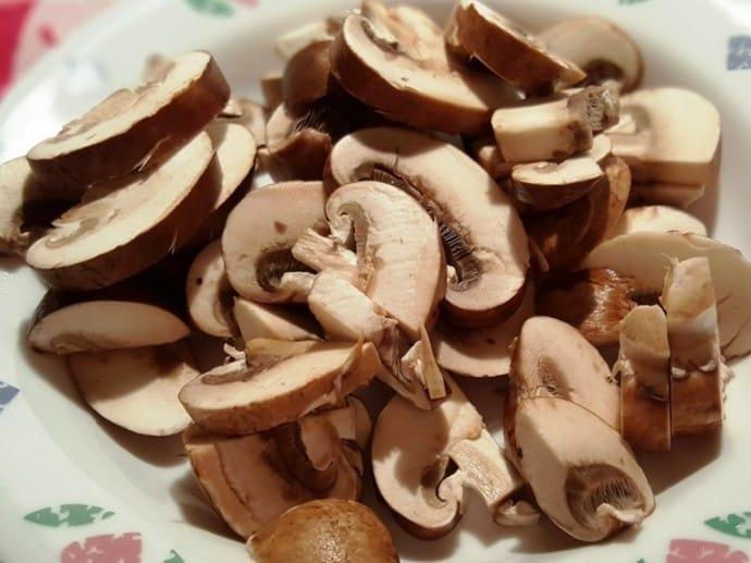 Slice the Cremini Mushrooms