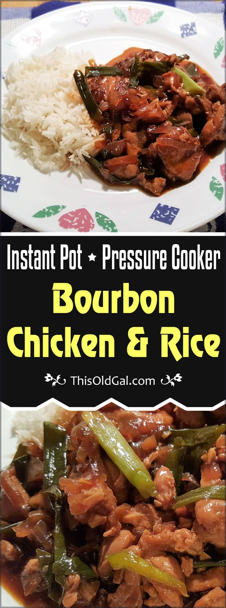 One Pot Pressure Cooker Bourbon Chicken and Rice
