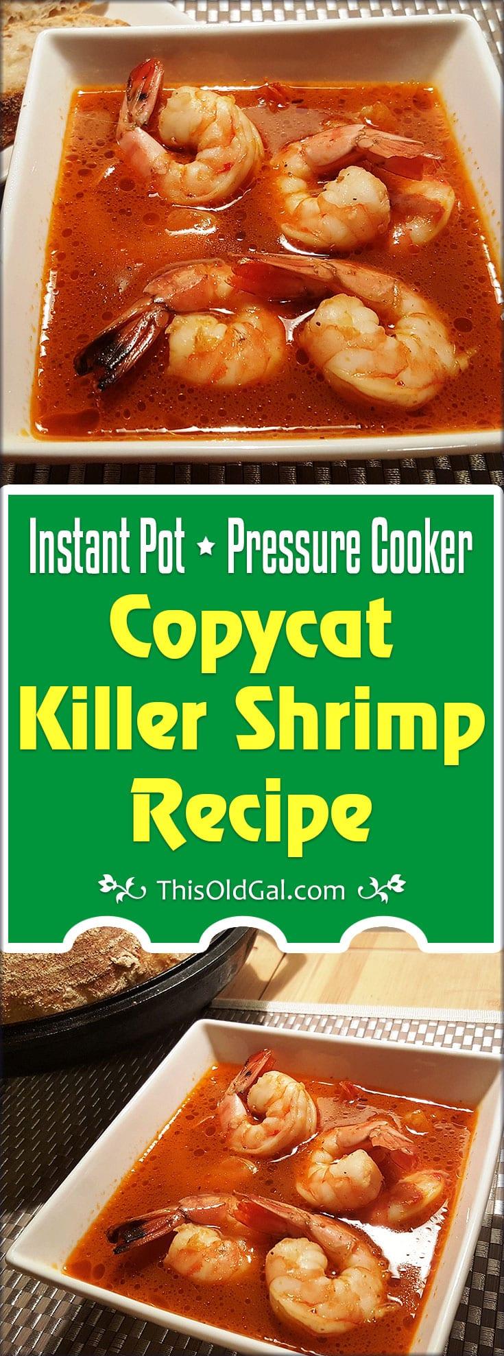 Pressure Cooker Copycat Killer Shrimp Recipe