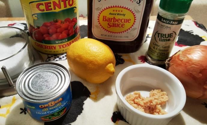 Cast of Ingredients for Instant Pot Rojo Fiesta Chicken