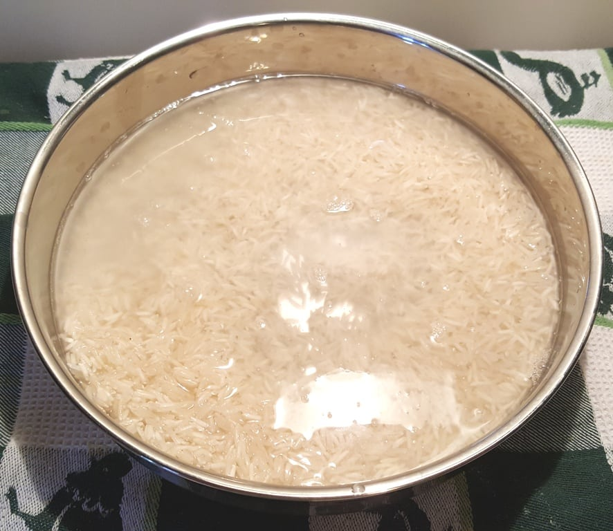 Add Rice and Water to Rice Pan