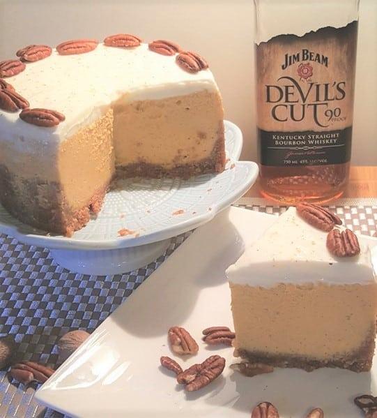 Instant Pot Bourbon Pumpkin Pie Cheesecake (Pake)