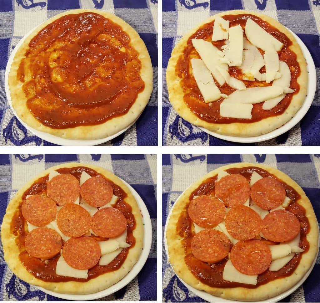 Air Fryer Onion and Fresh Garlic Pita Bread Pizza
