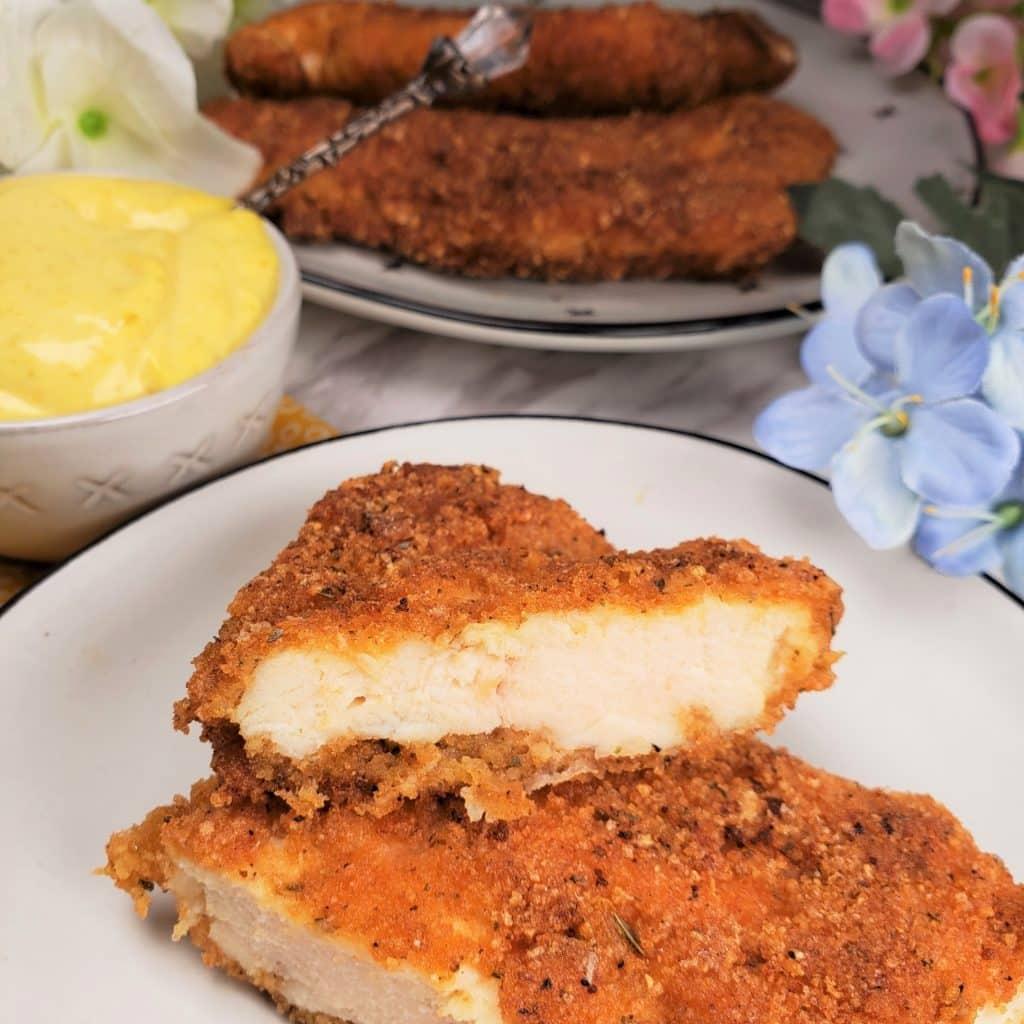 Keto/Low Carb Chicken Schnitzel
