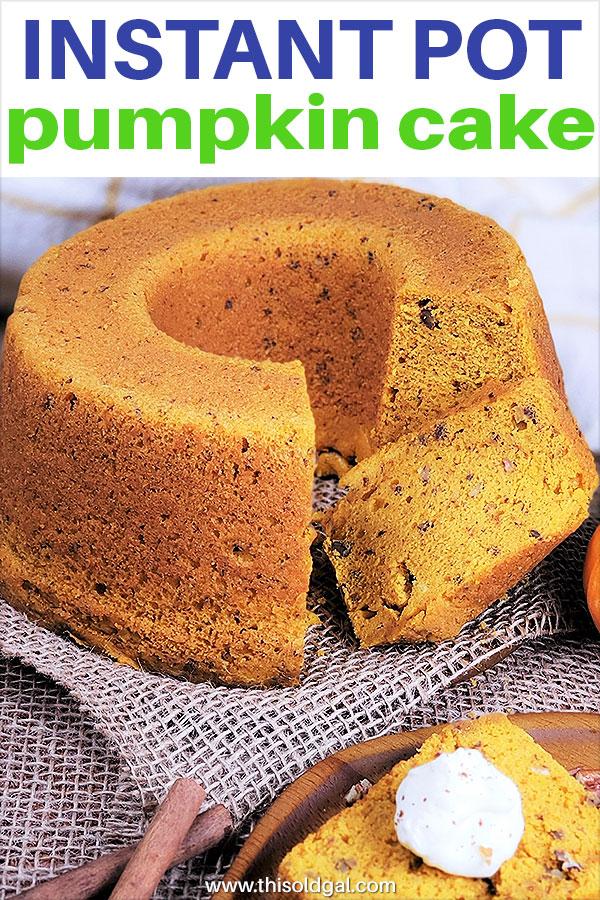 Instant Pot Pumpkin Butterscotch Bundt Cake