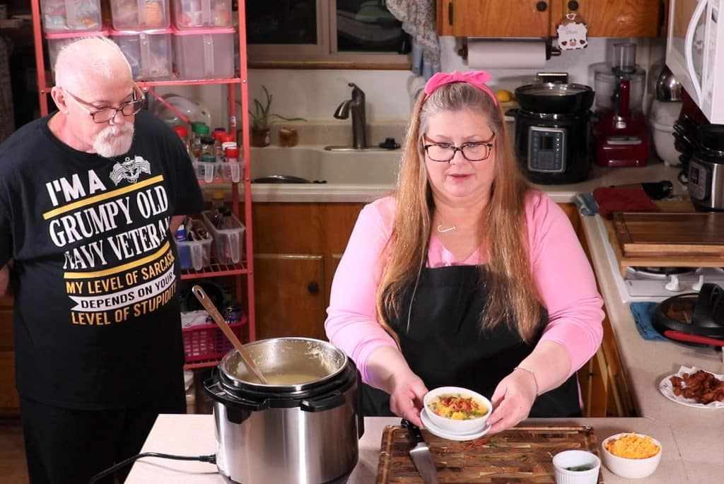 Ed Eyeing the Instant Pot Baked Potato Soup