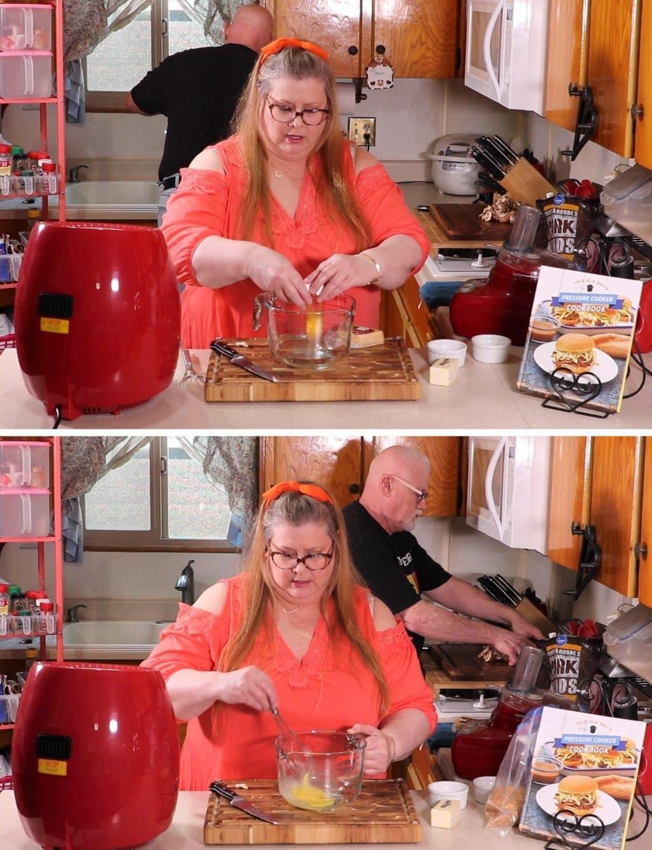 Make Egg Wash for Mushrooms