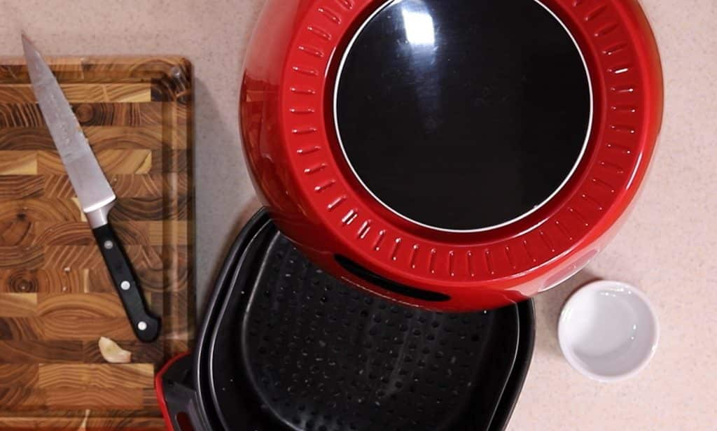Grease Air Fryer Basket with Coconut Oil