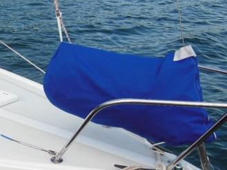 Foredeck sail bag solution
