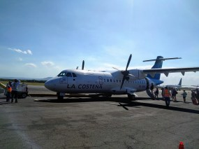 The plane to Big Corn