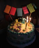 Ready to blow out those three candles!