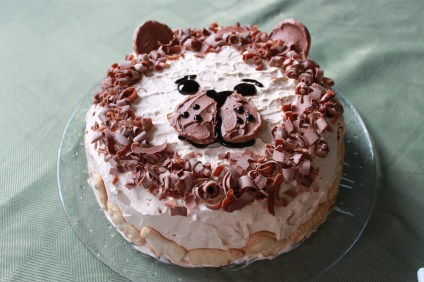 """A """"Black Forest"""" cake made for the wild animal guests."""