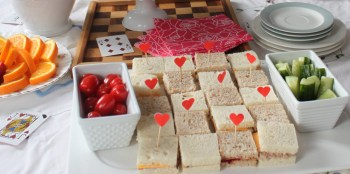 Checker board sandwiches for the Queen of Hearts