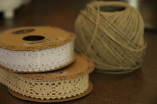 Collection of lace and twine to use