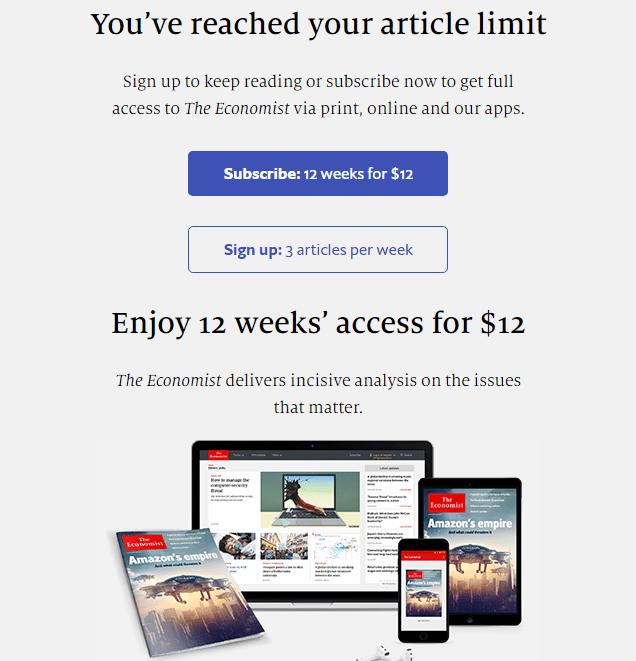 Economist Gated Content