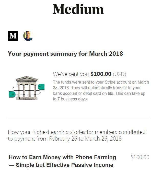 Medium bonus payment