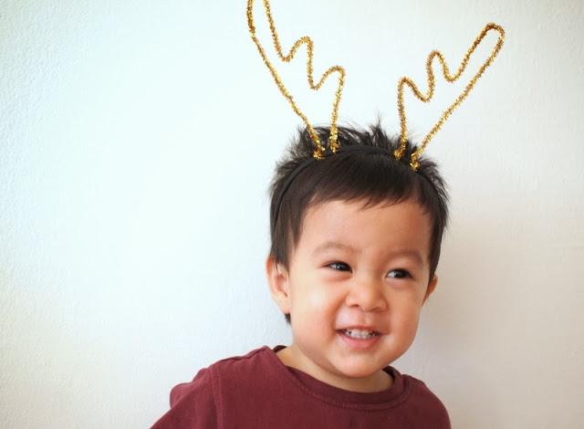 4 DIY Reindeer Antler Horns Headband Christmas craft