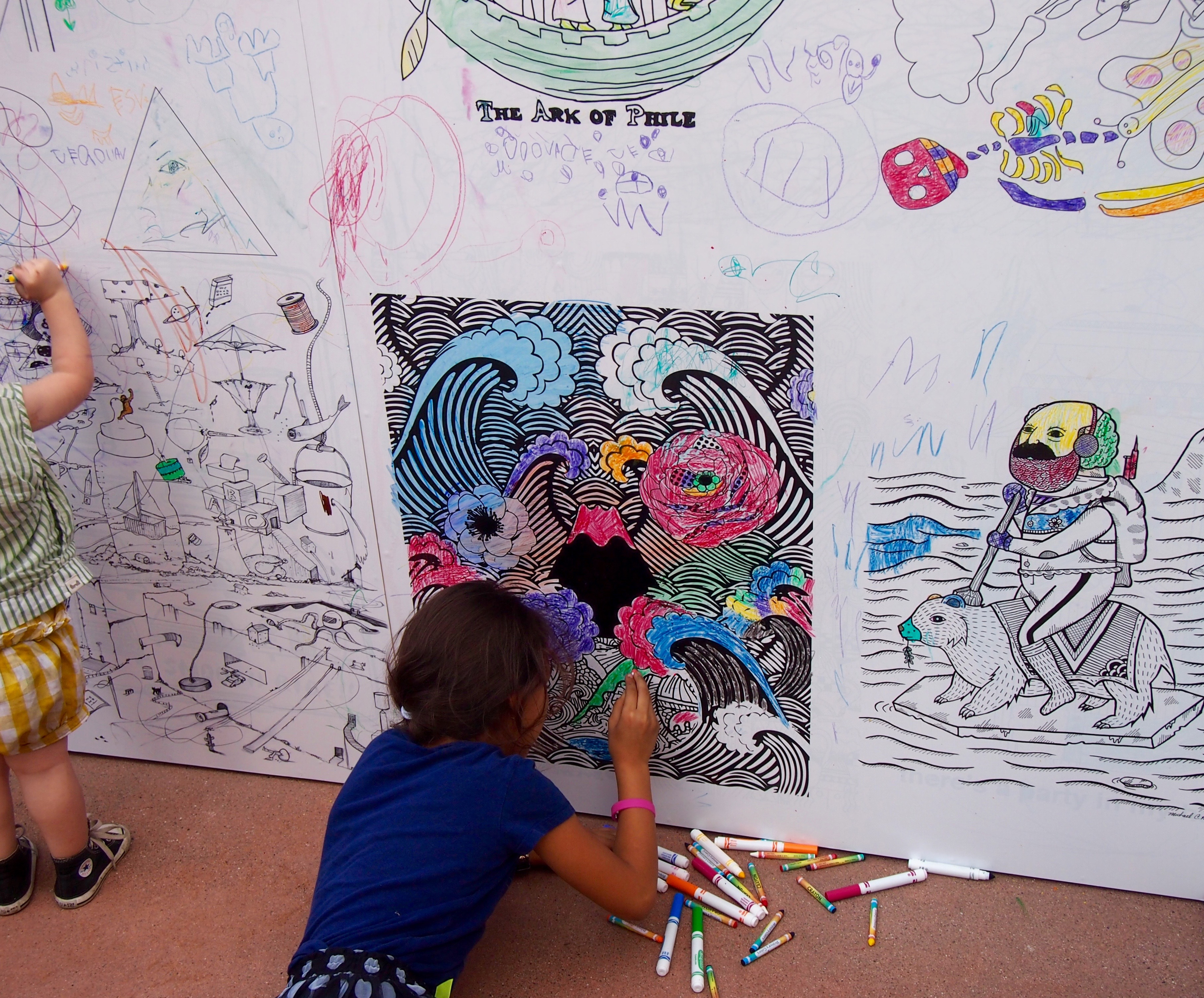 outside the lines, too: an all-ages coloring book by creative ...