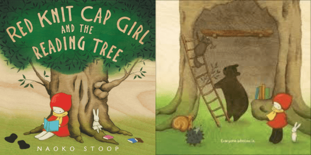 littleredcapgirl-reading-tree