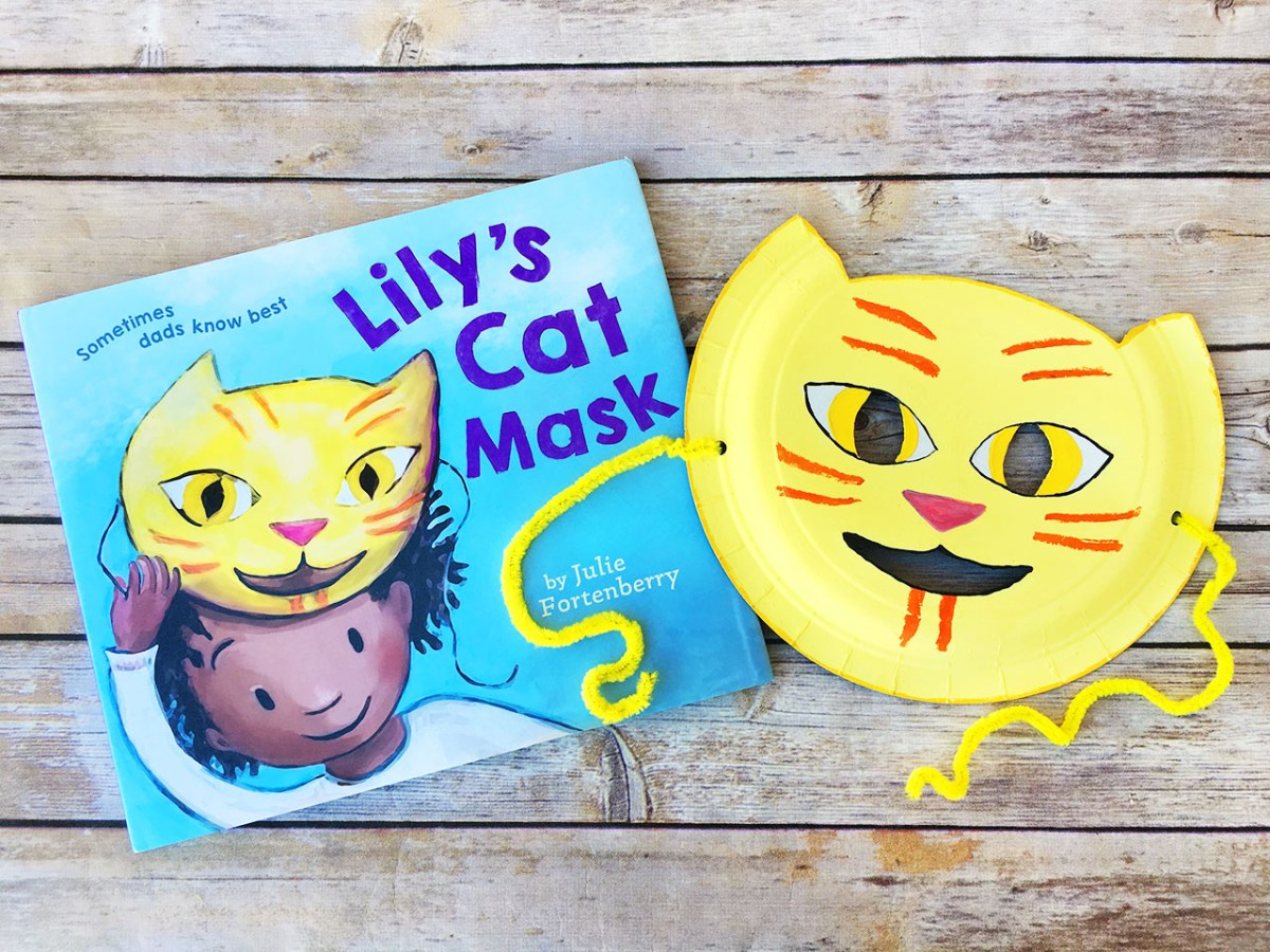 lily's cat mask + cat mask craft from creating creatives!