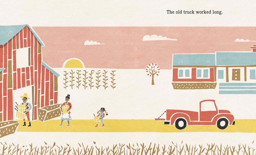 the old truck + sponge stamps craft - This Picture Book Life