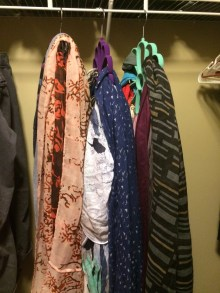 In the space of 3 shirts, I have a bazillion scarves. Perfect!