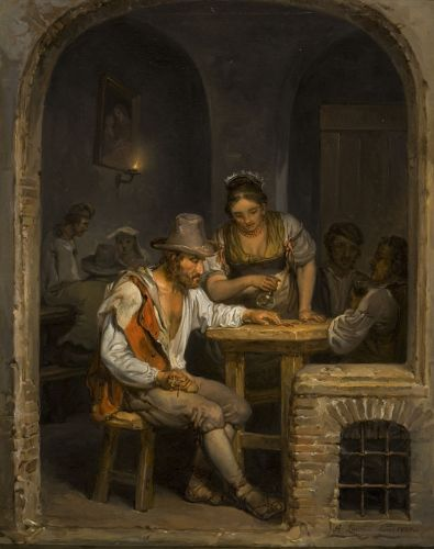 Roman Osteria (1820) from Pori Art Museum, Finland by Aleksander Lauréus (1793-1823)