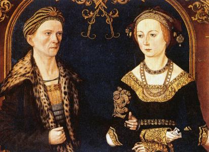 Jakob Fugger and Sibylle Artzt (Hans Burgkmair the Elder - 1498)