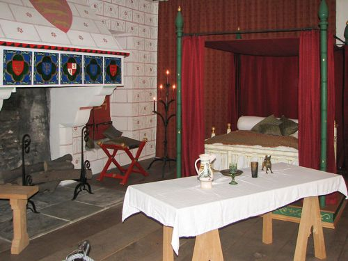 A reconstruction of Edward I's chamber at the Tower of London